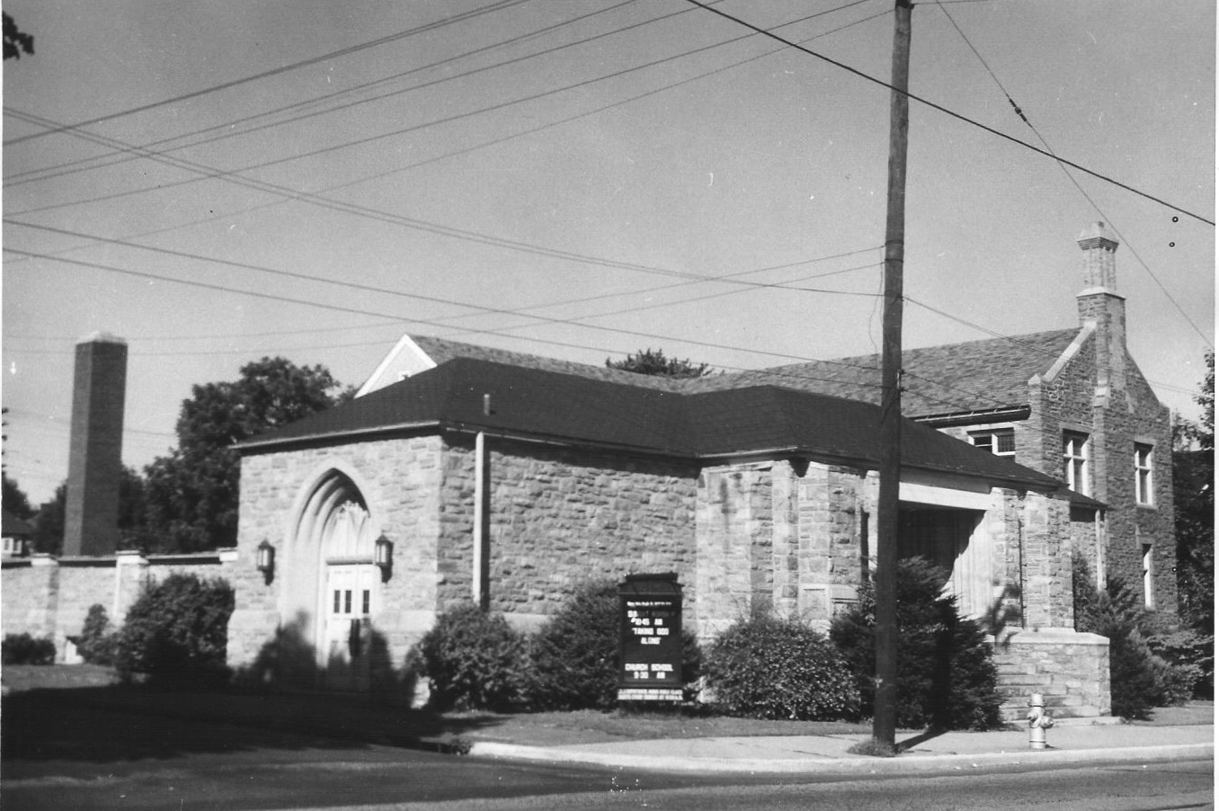1940's - St. John's Building Before The Sanctuary Was Added